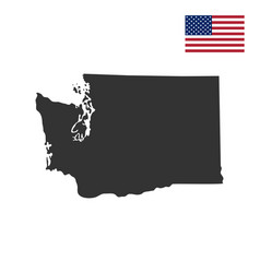 Map of the us state of washington vector