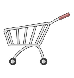 Market shopping cart icon cartoon style vector