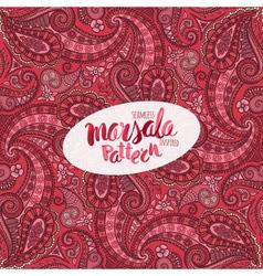 Marsala inspired trendy patternfashionable vector image