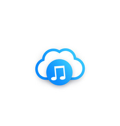 Music streaming service icon vector