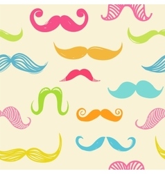 Mustache seamless background vector