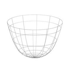 Outline drinking bowl on the white vector