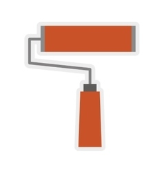 Paint roll tool icon Construction and repair vector