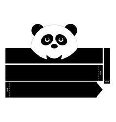 Panda headband vector