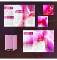 Pink brochure template vector image
