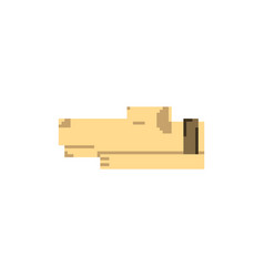 Pixel art dog vector
