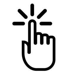Pointing finger click icon vector