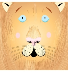 Portrait of a lion vector