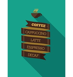 Presentation Menu coffee vector