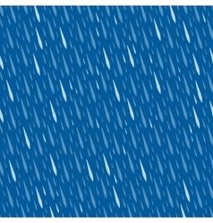 Rain drops seamless pattern vector image