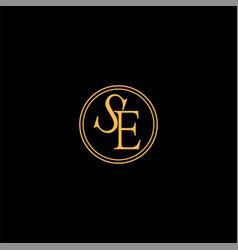 s e letter logo abstract design vector image