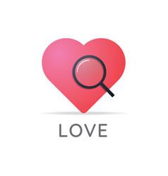 search love logo icon vector image