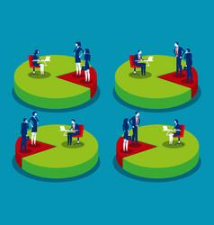 Set market share or market penetration business vector