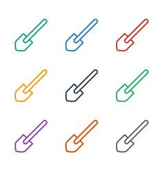 Shovel icon white background vector