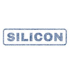 Silicon textile stamp vector