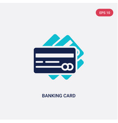 two color banking card icon from business concept vector image