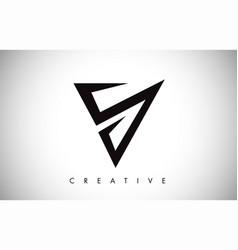 V logo letter creative v letter logo icon design vector