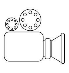 video camera icon in monochrome silhouette vector image