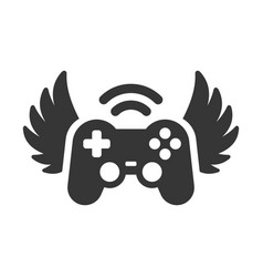 Video game controller with wings icon logo vector