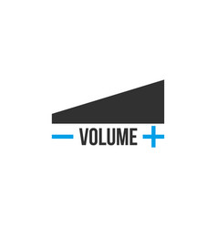 Volume levels icon frow low to high plus and vector