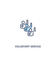 Voluntary service concept 2 colored icon simple vector