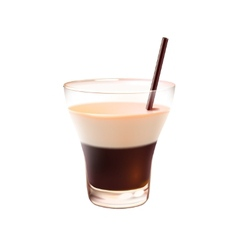 White russian cocktail realistic vector image