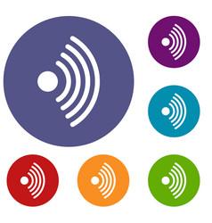 wireless network symbol icons set vector image