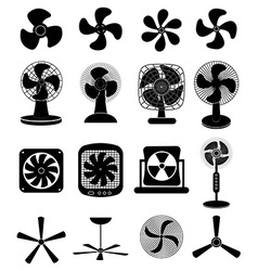 Fans icons set vector image vector image