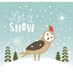 Let It Snow Christmas vector image