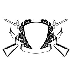 military frame vector image vector image