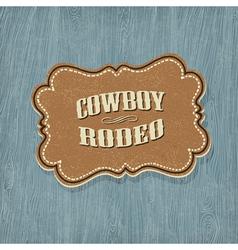 retro western label vector image