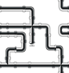 Seamless metal pipe pattern vector image