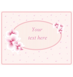 Wedding card or invitation vector image vector image