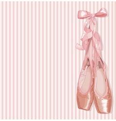 Ballet Slippers vector image vector image