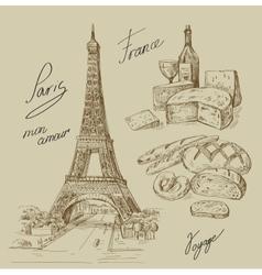 hand drawn Paris vector image vector image