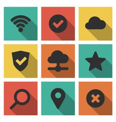 Icons Set Internet vector image vector image