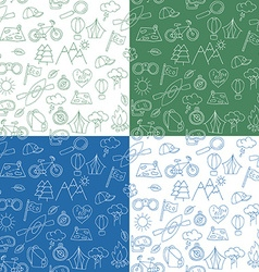 Seamless pattern with Ecotourism design elements vector image vector image