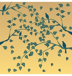 Autumn tree with leaves vector image