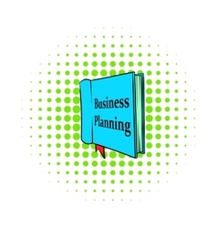 Business planning icon comics style vector image