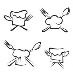chef icons vector image vector image