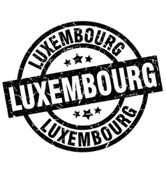 Luxembourg black round grunge stamp vector