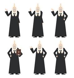 Set of Patrirarches Orthodox Church vector image