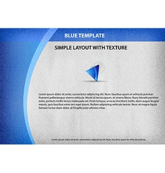 template blue curve side vector image vector image