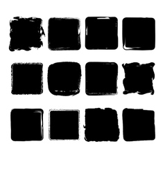 Collection of hand drawn squares vector image vector image