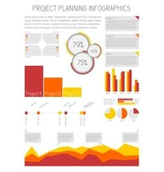 Infographics - Project planning vector image