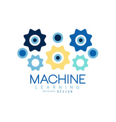 machine learning process and data science vector image vector image