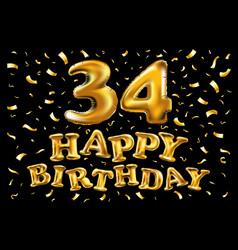 34 years anniversary celebration logotype vector image