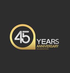 45 years anniversary celebration simple design vector