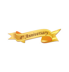 4th anniversary logo vector image