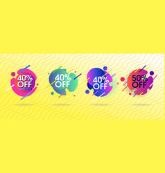 abstract offer design set vector image